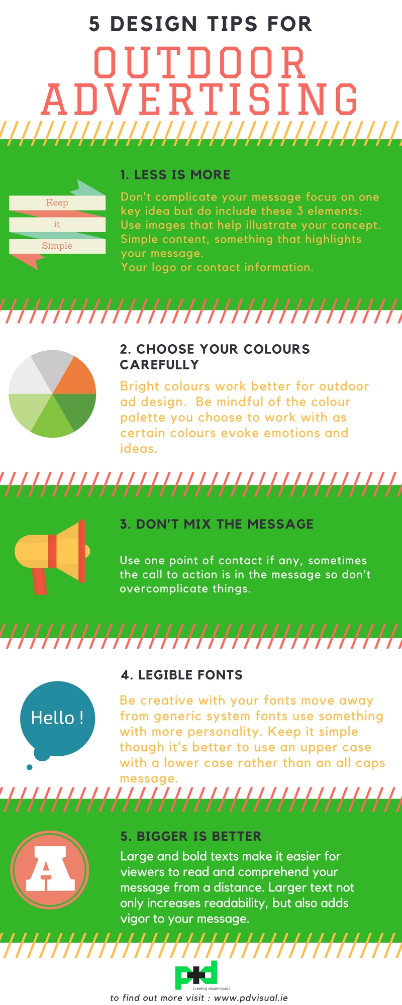 Infographic Outdoor Design Tips