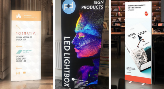 LED Lightbox Display Stands